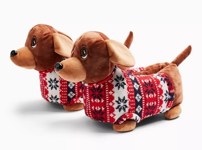 Brown Sausage Dog Slippers