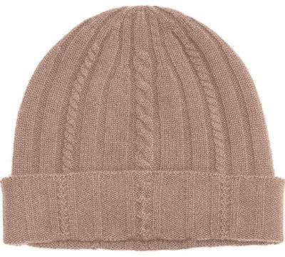 State Cashmere 100% Pure Cashmere Cable Knit Cuffed Beanie