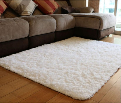 PAGISOFE Soft Comfy White Area Rugs