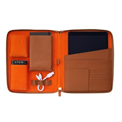 The World Class Tech Case – Sahara Tan & Orange