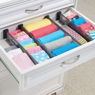 mDesign Adjustable, Expandable Drawer Organizer (Set Of 4)