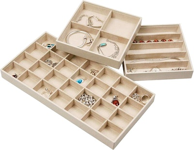 Stock Your Home Jewelry Trays For Drawers (Set Of 3)