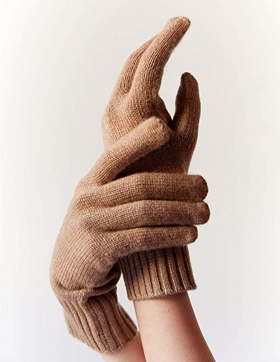 State Cashmere 100% Pure Cashmere Classic Jersey Knit Gloves