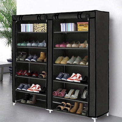 Blissun Shoe Storage Organizer Tower with Non-Woven Fabric Cover