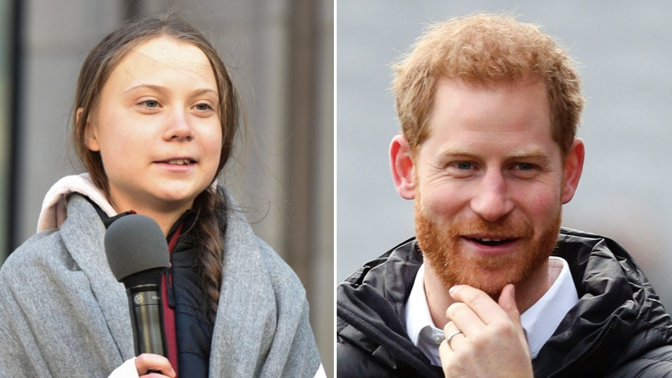 Prince Harry praised Greta Thunberg's climate change activism in a moving speech and encouraged others follow her lead.