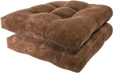 Arlee Delano Chair Nonslip Memory Foam Dining Seat Cushion (set of 2)