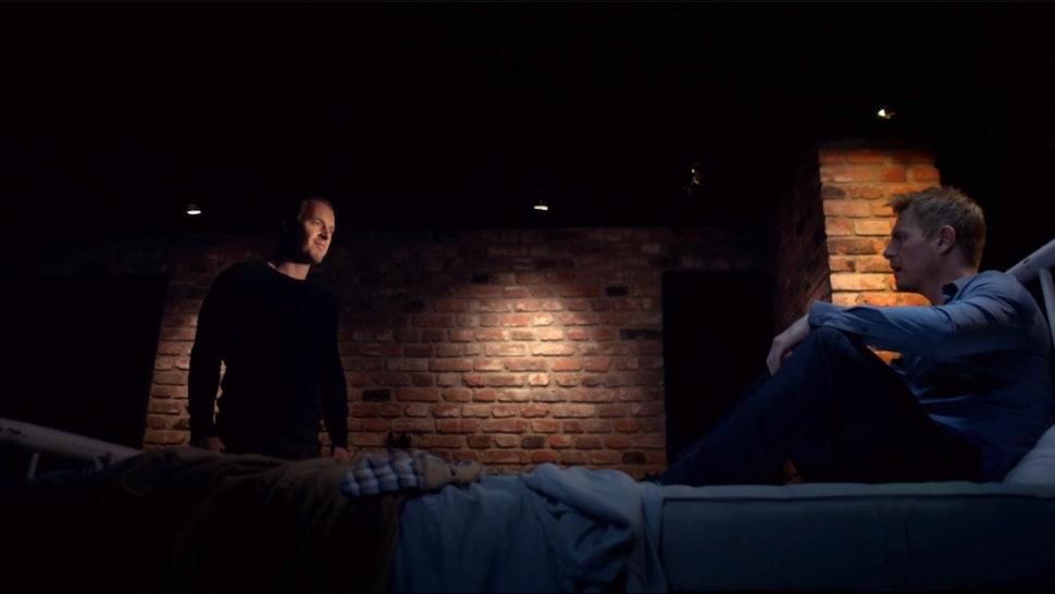 A still from Lifetime's 'My Husband's Secret Twin.'