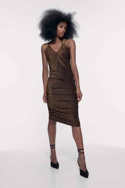 Dress With Metallic Thread