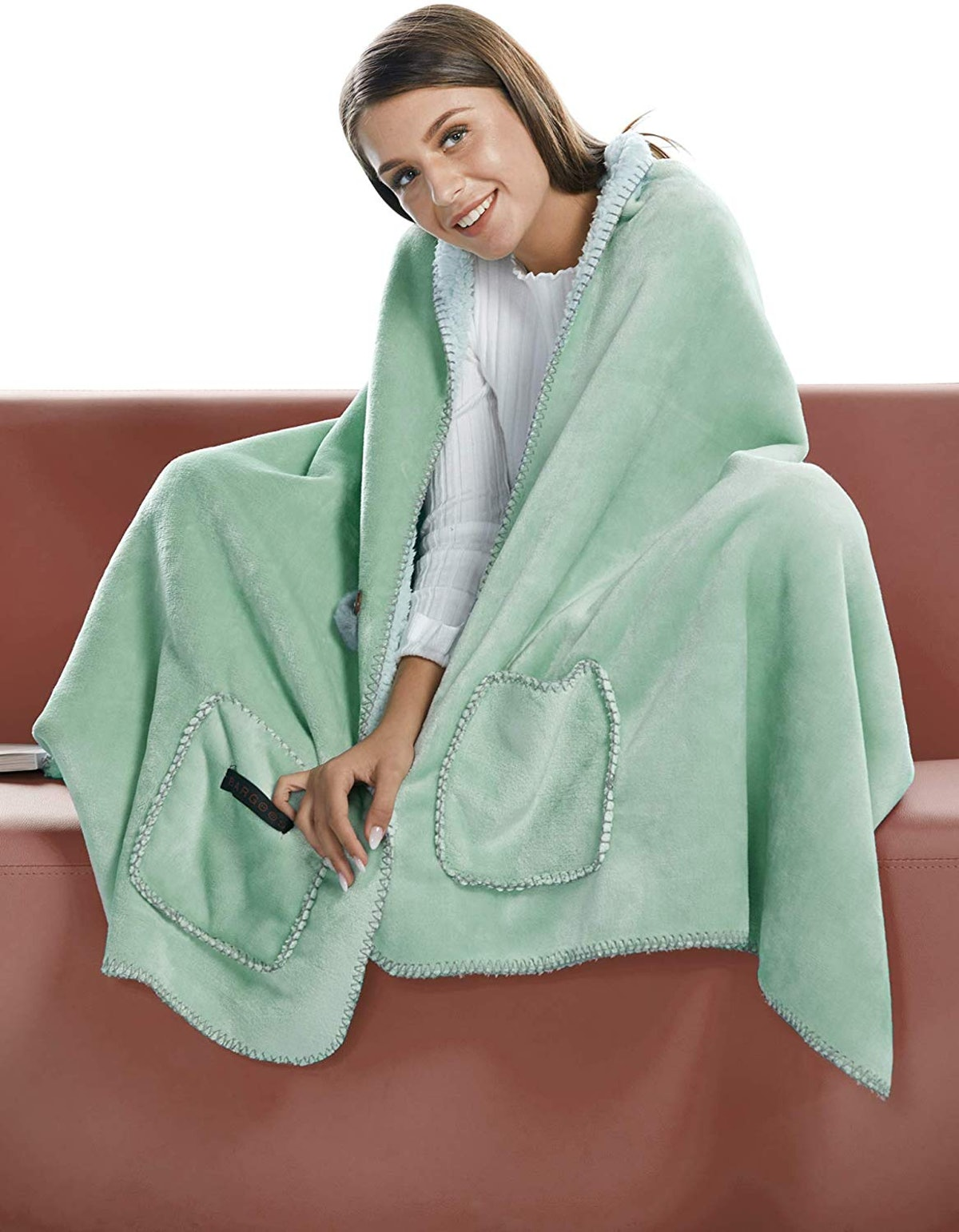 BARGOOS Thick Wearable Blanket