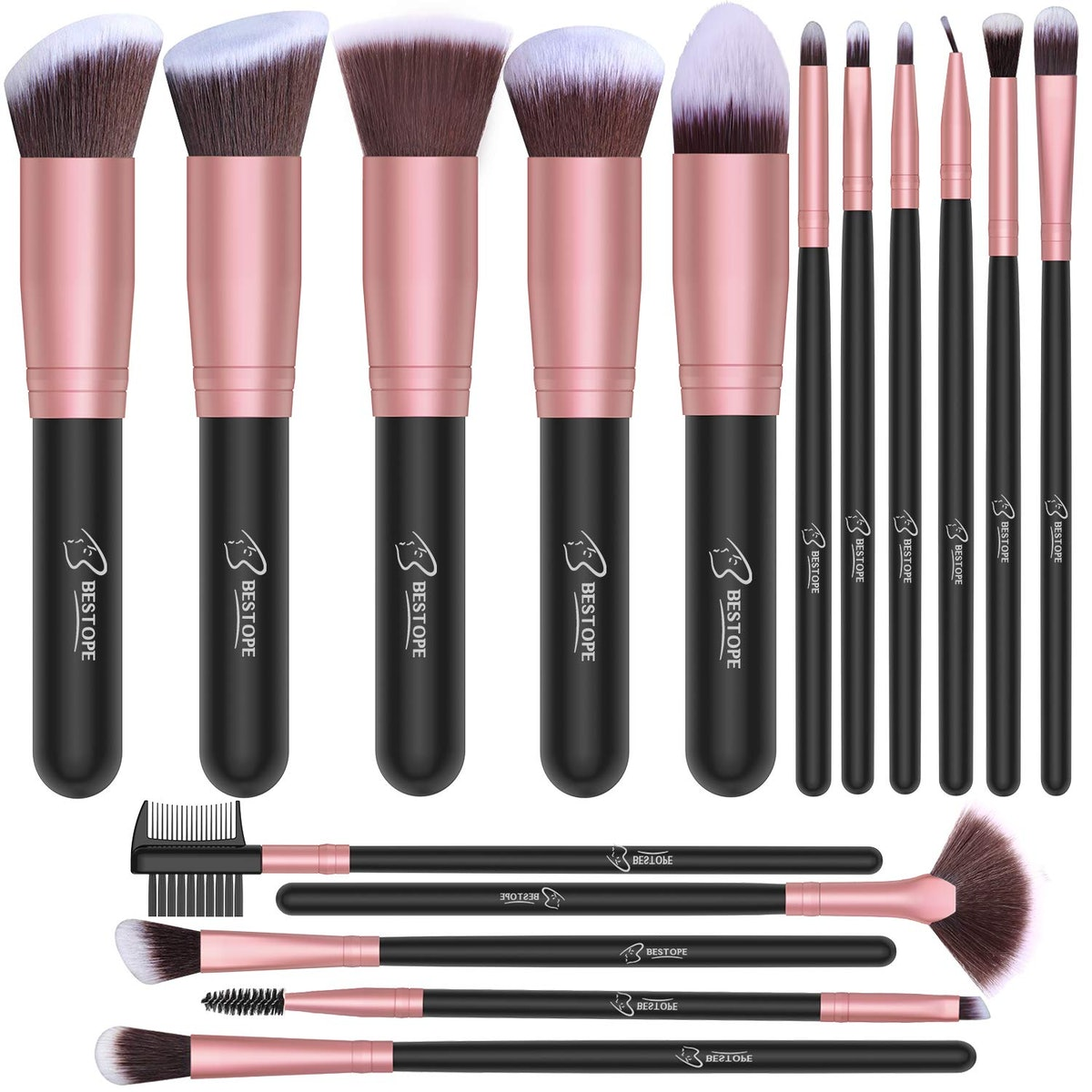 BESTOPE Makeup Brushes (16-Piece Set)