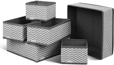 Homfa Foldable Fabric Storage Cube Drawer Organizers (Set Of 6)