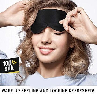 Jersey Slumber 100% Silk Sleep Mask