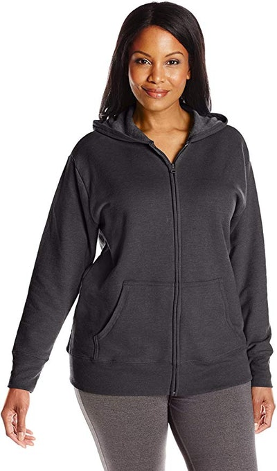 Just My Size Women's Plus-Size Full-Zip Fleece Hoodie