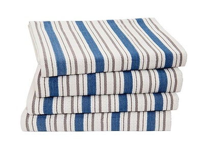 COTTON CRAFT Basket Weave Kitchen Towels (4-Pack)