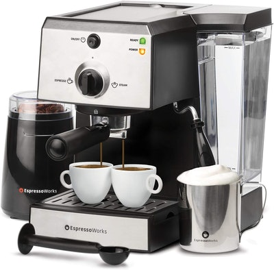 EspressoWorks 7-Piece All-In-One Espresso Machine