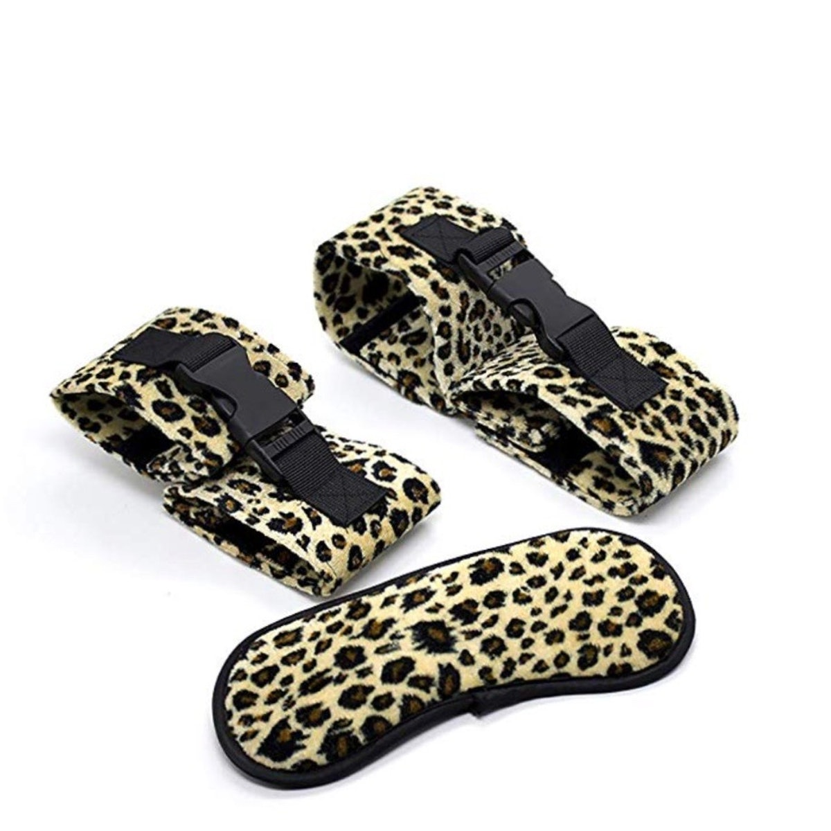 KIMMAO Leopard Eye Patch Handcuff and Ankle