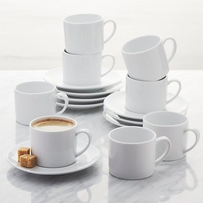 Aspen Espresso Cup with Saucer, Set of 8