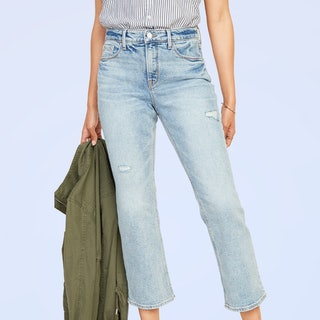 Old Navy High-Waisted Distressed Flare Ankle Jeans