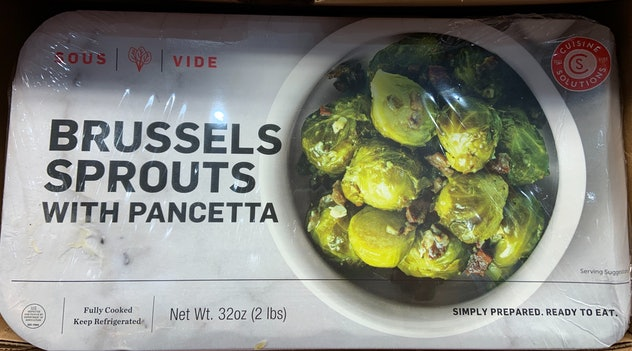 Sous-Vide Brussels Sprouts with Pancetta from costco