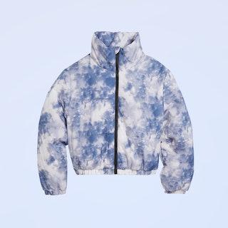 Wild Fable Women's Tie Dye Zip-Up Puffer Jacket
