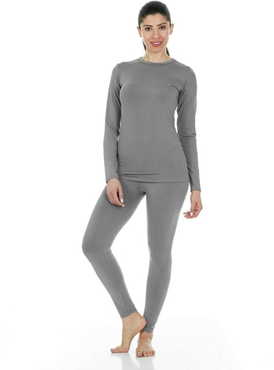 Thermajane Women's Ultra Soft Thermal Underwear Long Johns Set