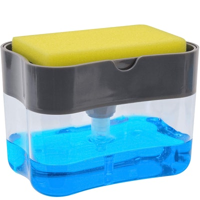 Soap Dispenser and Sponge Caddy by S&T INC.