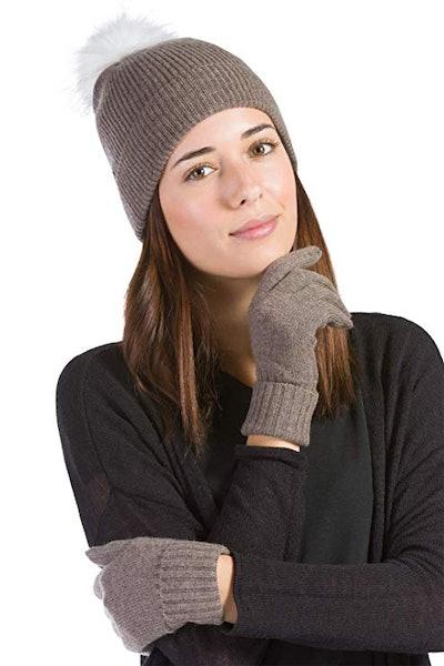 Fishers Finery Women's 100% Pure Knit Ultra Plush Cashmere Gloves