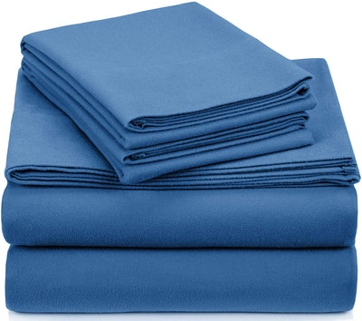 Pinzon Signature Cotton Heavyweight Velvet Flannel Sheet Set