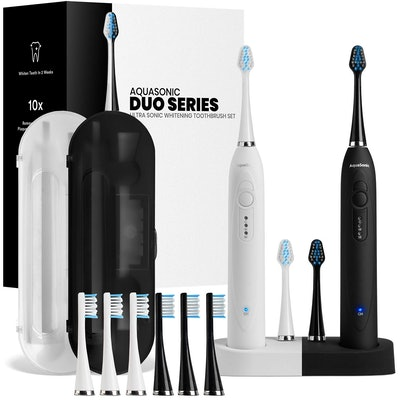 AquaSonic Rechargeable ToothBrushes (Set of 2)