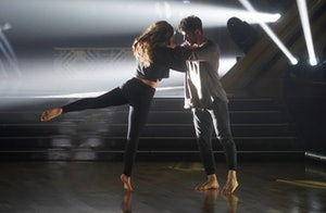 Hannah Brown and Alan Bersten practice the contemporary dance for Dancing with the Stars week 10.