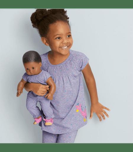 Cuddly Giraffe Pajamas for Little Girls & Bitty Baby Dolls