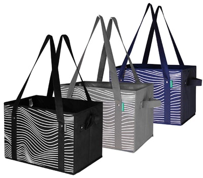 Earthwise Collapsible Reusable Grocery Bags (Set of 3)