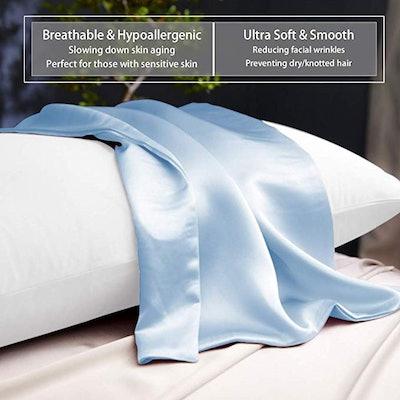 Ravmix Both Sides Pure Natural Silk Pillowcase