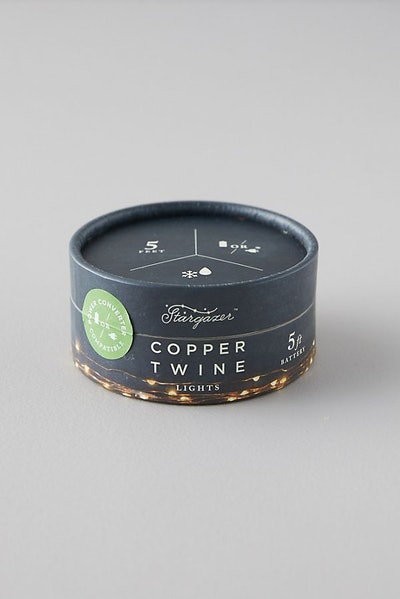 Stargazer Copper Twine Lights, 5' Battery Powered