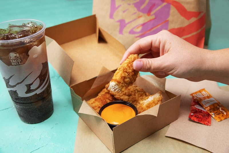 Taco Bell is testing Crispy Tortilla Chicken tenders, complete with dipping sauce, in select markets.
