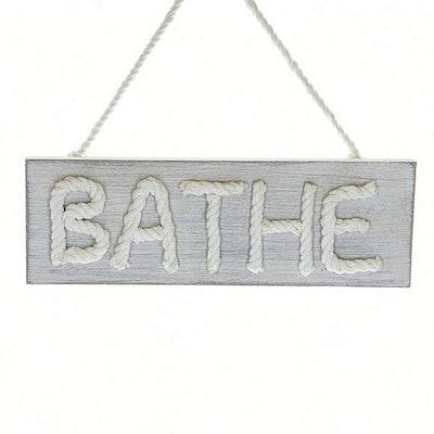 Wooden Bathe Plaque