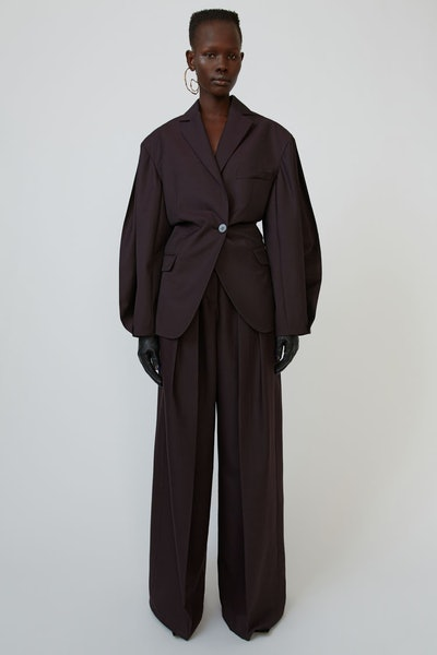 Voluminous Suit Jacket Aubergine Purple