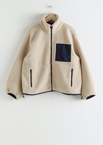 Relaxed Utility Fleece Jacket