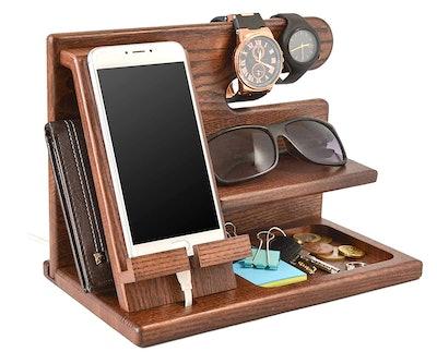 Wood Phone Docking Station by TESLYAR