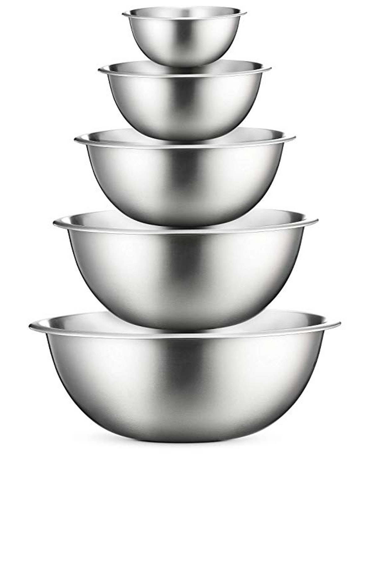 FineDine Stainless Steel Mixing Bowl Set (5-Pack)