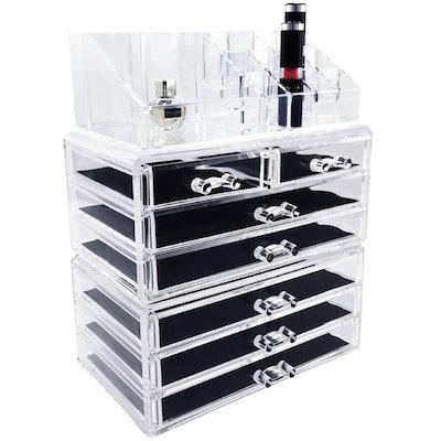 Ikee Design Acrylic Cosmetic Storage Boxes (3 Piece Set)