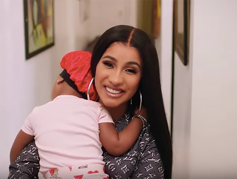 """Cardi B talked about motherhood for 'Vogue's 73 """"Questions""""."""
