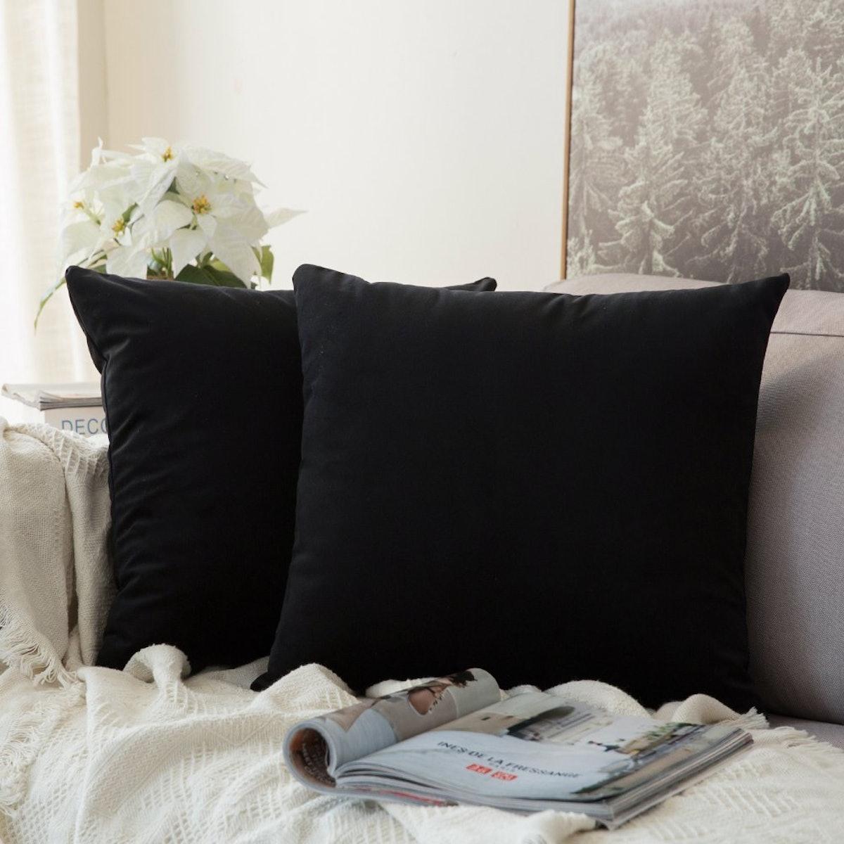 MIULEE Velvet Pillowcase (2-Pack)
