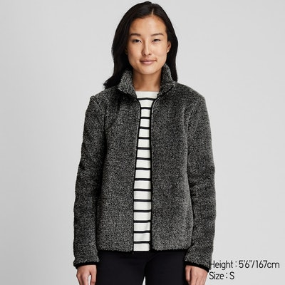 Fluffy Fleeced Zip Jacket