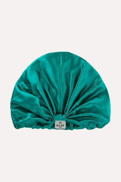 Silk Hair Wrap - Emerald