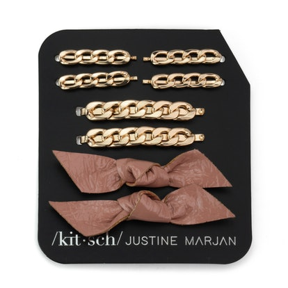 Chain and Bow Bobby Pin 8 Piece Set