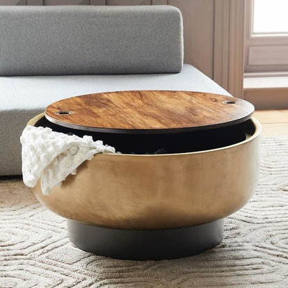 Drum Storage Coffee Table