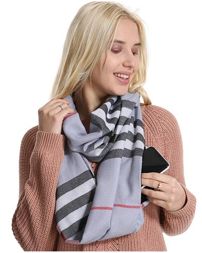 Infinity Scarf with Pocket by Fashion ABC