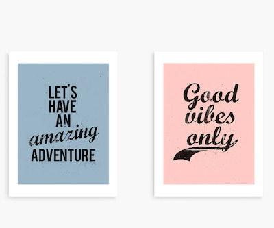 Nick Cranston - Amazing Adventure/Good Vibes Unframed Prints