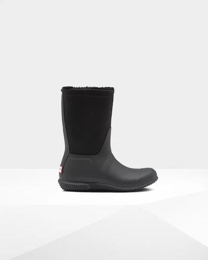 Women's Original Insulated Roll Top Sherpa Boots: Black